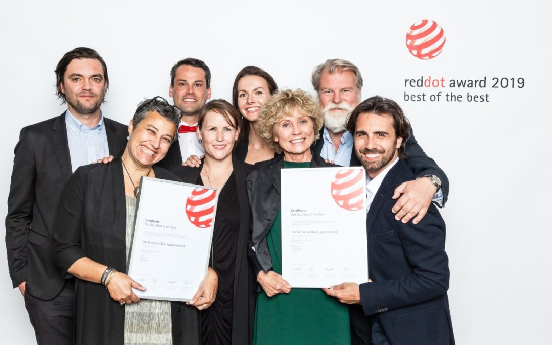 Basalt og Design Group Italia hljóta Best of the best í Red Dot hönnunarverðlaununum fyrir The Retreat í Bláa lóninu